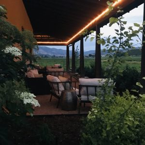 Farmhouse veranda lounge area