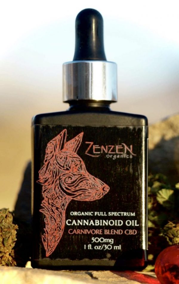 Carnivore Blend CBD for your meat eating pets. Made with zenzen's Organic CBD and wild caught salmon oil.