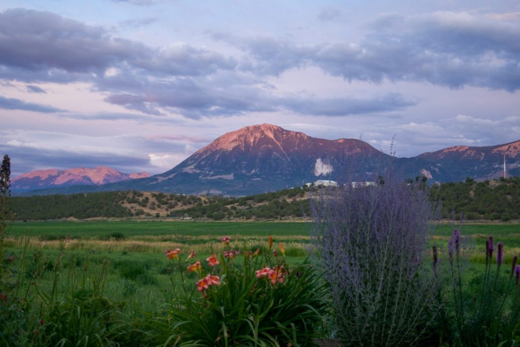 Lamborn Mtn near Paonia, colored by setting sun