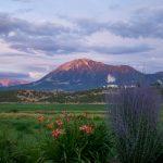 Lamborn Mtn near Paonia, colored by setting sun