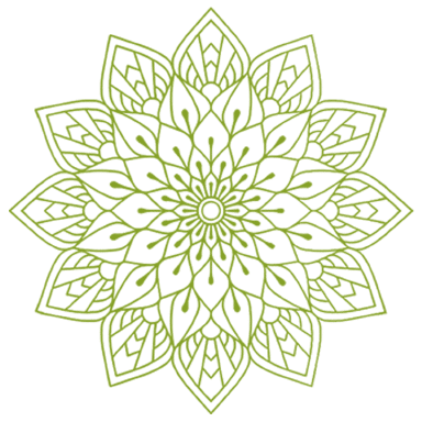 Green mandala zen hemp flower