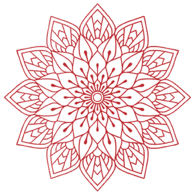 red mandala flower